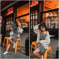 Theoni Argyropoulou - Dropship Wrap Dress, Knitted Cardigan, H&M Sneakers - Summer Dresses Wishlist 2019 on somethingvogue.com