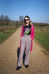 Chelsea Jade -  - Check Wide Leg Trousers
