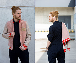 Maik - Scotch & Soda College Jacket, G Star Raw Overall - Pink College jacket
