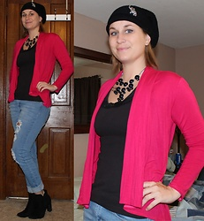 Erin Solberg -  - Casual Friday - Cardi and BF Jeans