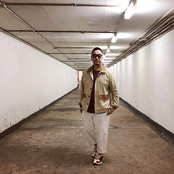 Mannix Lo - Online Shop Hunting Jacket, Cotton On Tee, Gu Loose Fit Cropped Pants, Adidas Yung 1 Sneakers - You're the risk I'll always take