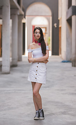 Nora Aradi - Asos Skirt, Converse Sneakers, Casio Watch - Home away from home