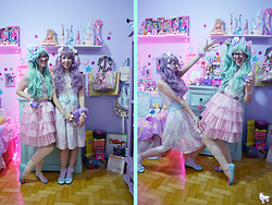 Luly Pastel Cubes - Melissa Bow, Kawaii Dress - My awesome friend