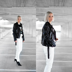 Nena F. - Levi's® Jeans, Sacha Shoes - BLACK, WHITE AND HEELS