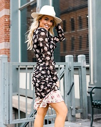 Amber Wilkerson - Dress, Fedora - LOOKING FANCY IN A FLORAL DRESS