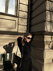 Ieva Ukanytė - Lindex Wrap Skirt, H&M Black Sunglasses - Black is Beautiful