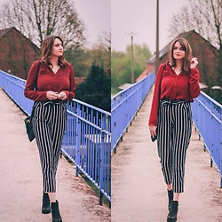 Audrey - Stradivarius Pants, Le Closet Shirt - Stripes