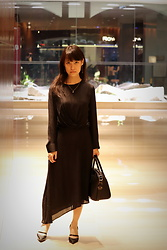 Clara . - Mango Dress, Givenchy Bag, Charles & Keith Shoes - L(ong)BD