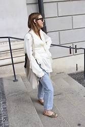 Anna Borisovna - Céline Blouse, H&M Jeans, Flattered Shoes, Mango Bag - The Céline Blouse
