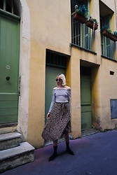 Maria Joanna - Sinsay Sunglasses, H&M Off Shoulder Top, New Yorker Leo Pattern Asymmetric Skirt, H&M Pointed Mules - Leo in town