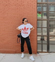 KC Chen - Adidas Shirt - Roaming in Brooklyn