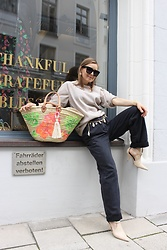 Anna Borisovna - Cos Shirt, Mango Belt, H&M Jeans, H&M Shoes - The Summer Bag