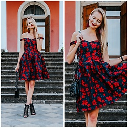 Madara L - Ever Pretty Floral Off Shoulders Dress - Rebellious femininity