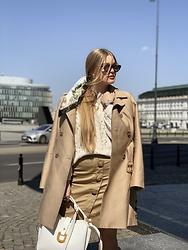Marta Caban - Zerouv Glasses, Orsay Coat, Orsay Skirt - NUDE