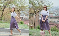Teterot Salon - Teterot Salon Eggplant Purple, Street Shop In Hongdae Blouse - Last Weekends Outfit!