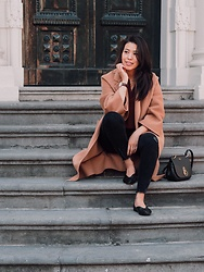 Vivian Tse - Daniel Wellington Watch, The Curated Coat, Zara Jeans, & Other Stories Silk Blouse, Zara Flats, Mulberry Bag - Coat weather