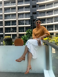 Cassey Cakes - Mango Sandals, H&M Skirt, Zaful Top - Balcony Sunshine