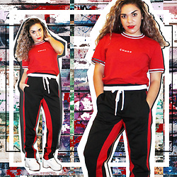 SV - Cotton On Track Pants - Back it up
