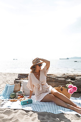 Alexandra G. - Faithfull Gingham Dress - Beach Picnic