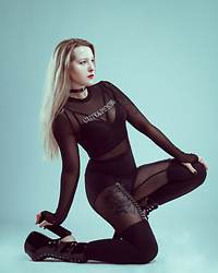 Joan Wolfie - Black Milk Clothing Leggings, Killstar Shoes - MESHY // Joan Wolfie