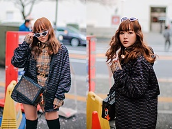 Baoer Tang - Burberry Checkered Shirt, Christian Dior Cd Belt, Louis Vuitton Soft Trunk Monogram Brown - The Burberry Girl