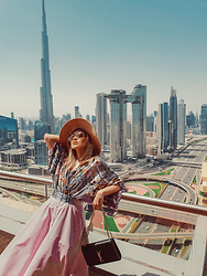 Joicy Muniz - Holzweiler Kimono Shirt, Uniqlo Skirt, Ysl Bag - Burj Khalifa