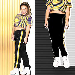 SV - Cotton On Track Pants - Golden rod