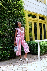 Iféoluwa Anani - Target Striped Jumpsuit, Shein Clear Bag, Target White Mules - Pursuit of Happiness