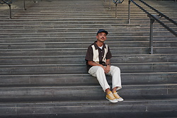 Dan Pantoja - Muji Denim Cap, Checks Downtown Bowler Shirt, Stan Ray Painter Pants, Converse 70s - INSTAGRAM - @danmpantoja Δ