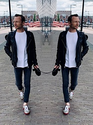 Marcin - Saint Laurent Glasses, Allsaints Jacket, Diesel T Shirt, Zara Jeans, Gucci Shoes - 19/07/19
