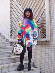 Kanaho Morris - Kanaho's Show Stage:806, Kanaho Morisue Rainbows, Jeffrey Campbell Shoes Black Star - Jan 5, 2019 stage:806