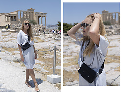Ewa Michalik - Fadd Dress, Pull & Bear Sandals, Goshico Bag, Soya Sunglasses - Acropolis, Athens