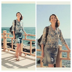 Galina K - Defacto Blouse, Shein Skirt - Nearby the sea