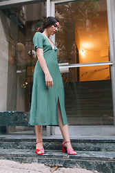 Life Stalkers - Minkpink Midi Dress, Jeffrey Campbell Shoes Strap Heels - Spanish Girl
