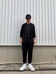 ★masaki★ - Kollaps Japanese Cap ミニマル テクノ, Ch. Tops, Ch. Trousers, Adidas Yung1 - Many Black Little White