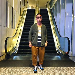 Mannix Lo - Uniqlo Cardigan, H&M Stripes Tee, Uniqlo Loose Fit Pants, Undercover X Nike Day Break Sneakers - If you can stay positive in negative situation, you WIN