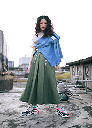 Miriam Mibao - Cheap Monday Shirt, Ghospell Pants, Balenciaga Triple S Sneakers - Inspiration
