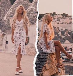 Ekaterina Normalnaya - Mango Dress - Alberobello Look