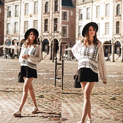 Audrey - Pull & Bear Shoes, Majolica Black Shorts, Pimkie Hat - A mix summer & fall #2
