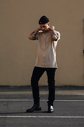 Kevin Elezaj - Hugo Boss Boots, Levi's® Jeans, Allsaints T Shirt, Obey Beanie - Inked up