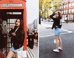 Virgit Canaz - Lulu Guinness White Trainers - London calling