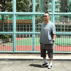Mannix Lo - No Brand Message Tee, Rick Owens Layered Shorts, Adidas Yeezy 700 Sneakers - Peoples left, but their foot prints on my heart