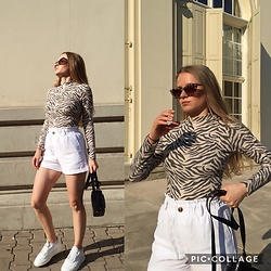 Aneta Kramarska - Orsay Blouse, Pull & Bear Shorts, Zara Glasses - Spirit Animal