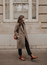 Tonya S. - The Frankie Shop Checkered Coat, Miista Boots - Fall Uniform