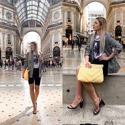 Zuza - Zara Bag, Mango Blazer - Shopping in Milano
