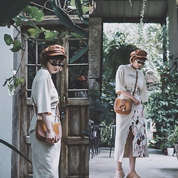 Petrina Hsieh - Brixton Hat, Roberi&Fraud Sunglasses, See By Chloé Saddle Bag, Unius Pencil Skirt - Chiang Mai Chilling