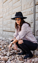 Kayte Demont - Urban Outfitters Hat, H&M Shirt, Madewell Jeans, Primark Boots, Daniel Wellington Watch - UNTZ
