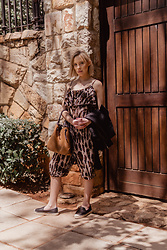 Ingrid G - Leopard Print Jumpsuit, Plaited Leather Handbag, Woolworths Pu Leather Jacket, Woolworths Leather Espadrilles - Another Day in Spain