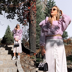 Zuza - Zalando Bag, Zara Sweater, Zara Dress, H&M Earings, Bronx Sneakers - Autumn vibes