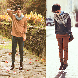 Vini Uehara - Guidomaggi Boots, Guidomaggi Brown - Autumn